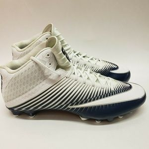 Nike Blue White Vapor Speed Mid Football Cleats